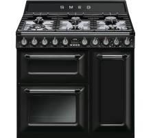 Smeg TR93BL - 90cm Victoria Aesthetic Dual Fuel Range Cooker - Black
