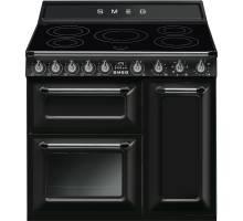 Smeg TR93IBL - 90cm Victoria Aesthetic Induction Range Cooker - Black