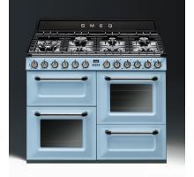 Smeg Victoria Aesthetic TR4110AZ Dual Fuel Range Cooker - Pastel Blue