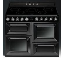 Smeg Victoria Aesthetic TR4110IBL Induction Range Cooker - Gloss Black