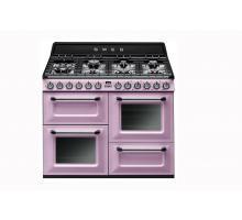 Smeg Victoria Aesthetic TR4110RO Dual Fuel Range Cooker - Pink