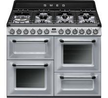 Smeg Victoria Aesthetic TR4110S1 Dual Fuel Range Cooker - Silver