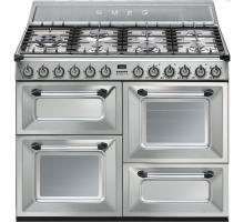 Smeg Victoria Aesthetic TR4110X Dual Fuel Range Cooker - Stainless Steel