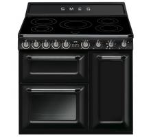 Smeg Victoria Aesthetic TR93IBL Induction Range Cooker - Black
