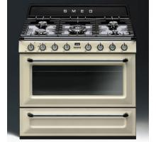 Smeg Victoria Aesthetic TR93IP Dual Fuel Range Cooker - Cream