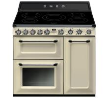 Smeg Victoria Aesthetic TR93IP Induction Range Cooker - Cream