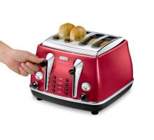 delonghi icona red 4 slice toaster