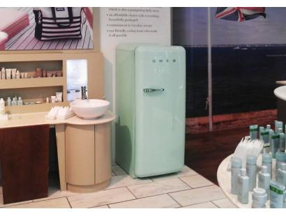 50's Retro Style Aesthetic FAB28QV1 Fridge with Icebox - Pastel Green