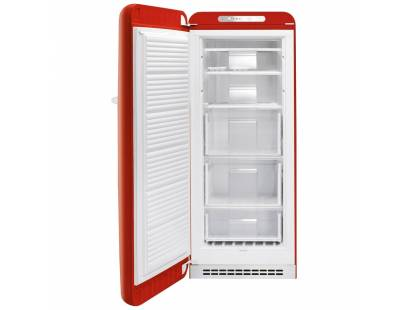 50's Retro Style CVB20RR1 Right Hinged Freestanding Freezer - Red