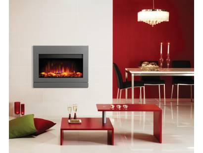 Gazco Riva2 670 Electric Designio2 Steel Fire - Iridium