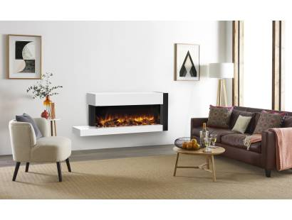 Gazco eReflex 110W Trento Left Offset Suite - White