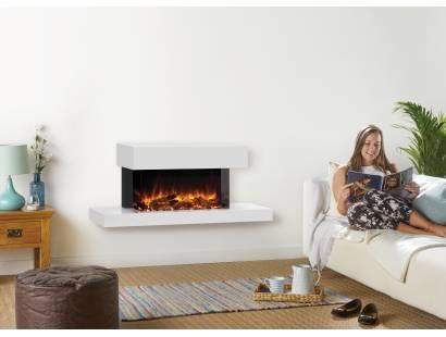 Gazco eReflex 70W Trento Centred Suite - White