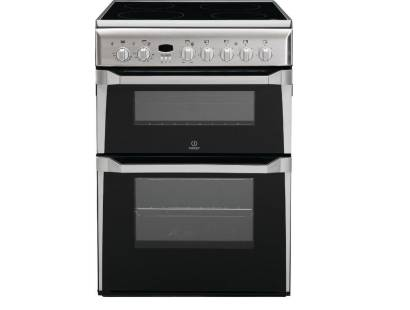 Indesit ID60C2X Double Oven Electric Cooker