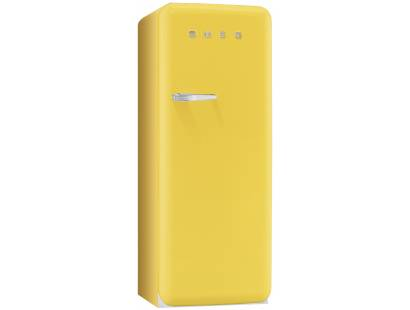 Smeg 50's Retro Style Aesthetic FAB28QG1 Fridge with Icebox - Yellow