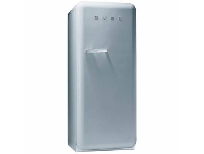 Smeg 50's Retro Style Aesthetic FAB28QX1 Fridge with Icebox - Silver