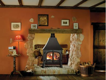 Stovax Stockton 11 Double Sided Wood Burning High Canopy Stove